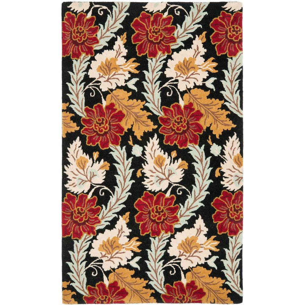 Blossom Black/Multi 5 ft. x 8 ft. Area Rug