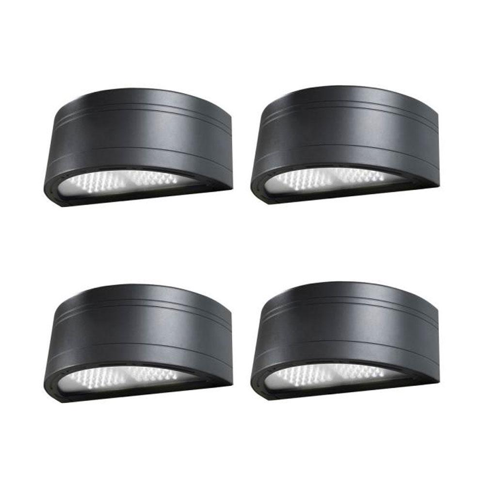 Architectural Round 150-Watt Equivalent Integrated LED Bronze Dusk to Dawn Outdoor Wall Pack Light, 5130 Lumens (4-Pack)