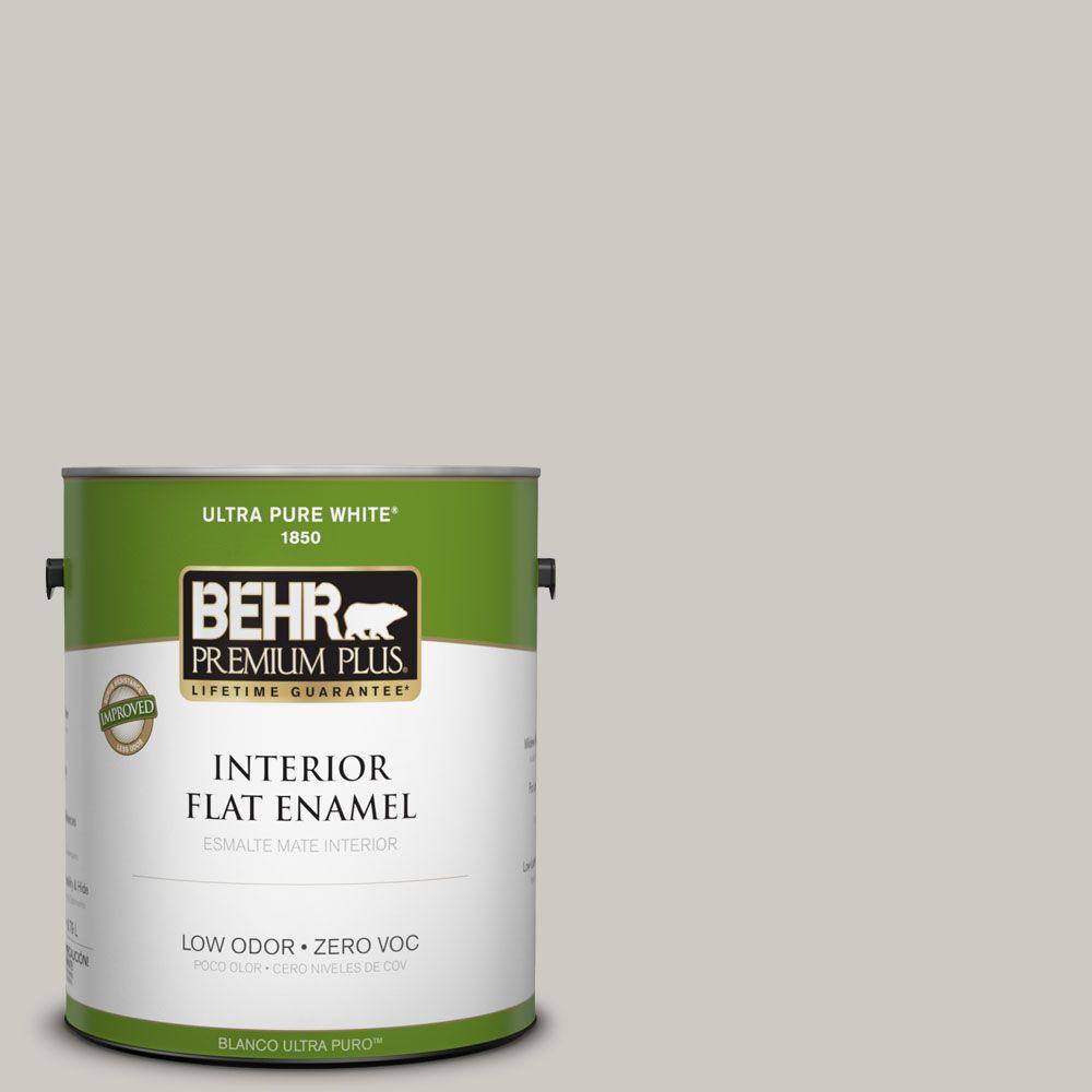 BEHR Premium Plus 1-gal. #790C-3 Dolphin Fin Zero VOC Flat Enamel Interior Paint-DISCONTINUED
