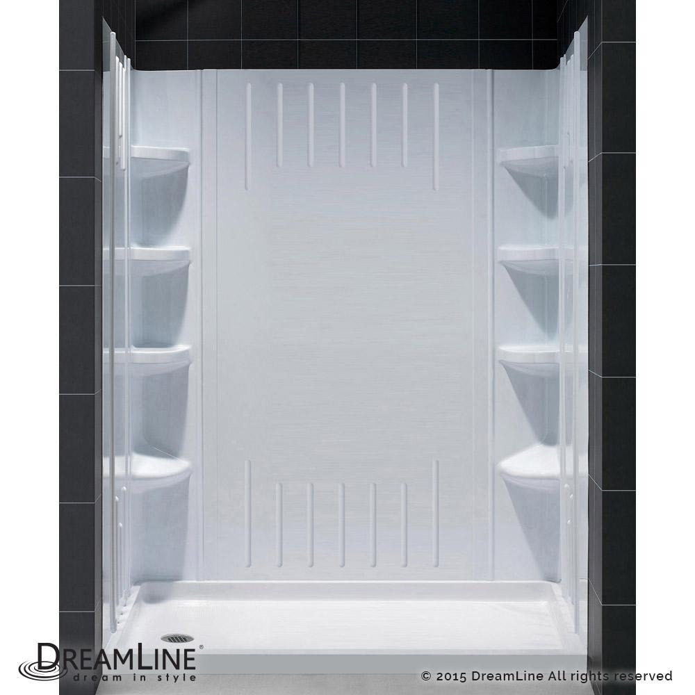 Dreamline Slimline 30 In X 60 Single Threshold Shower Base White With