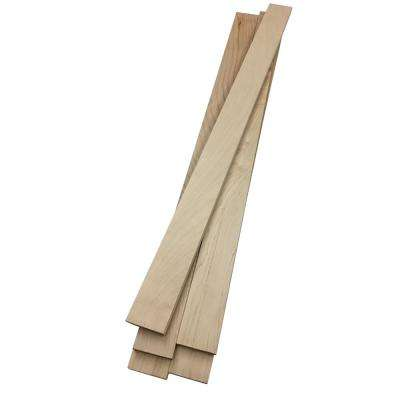 0.75 in. x 2.5 in. x 4 ft. Maple S4S Board (5 pack)