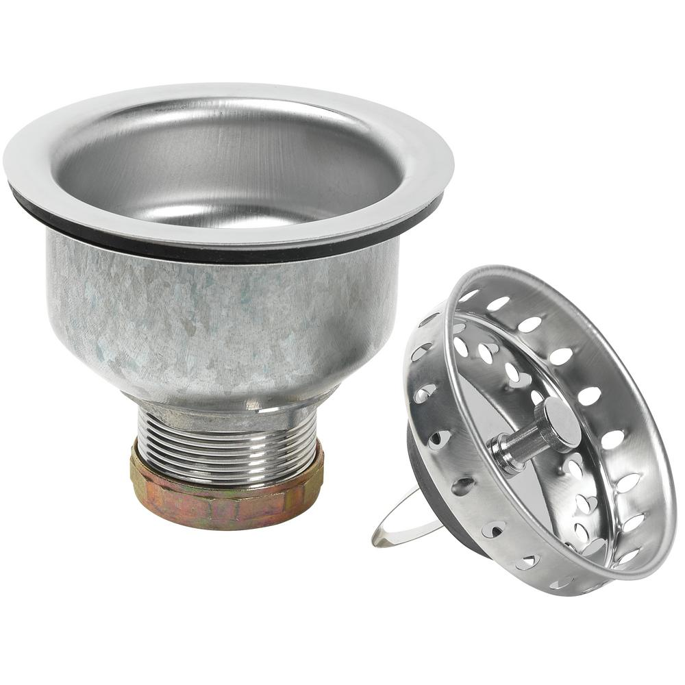 Glacier Bay Specification Sink Strainer in Stainless