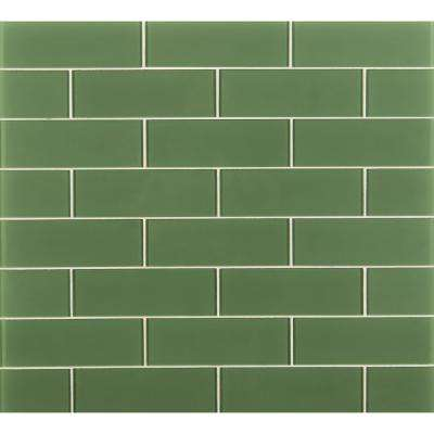 Green Subway Tile Flooring The