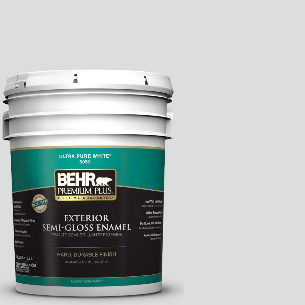 5-gal. #N500-1 Shiny Luster Semi-Gloss Enamel Exterior Paint