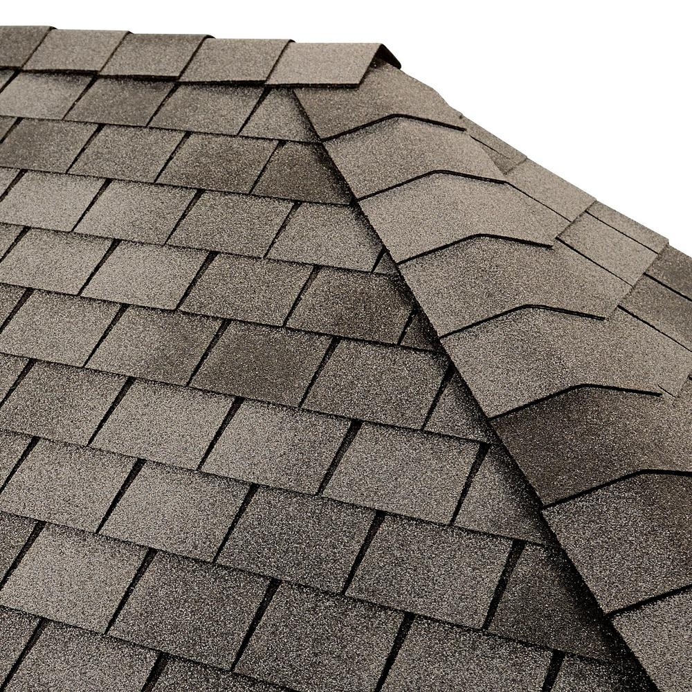 GAF Timbertex English Gray Double-Layer Hip and Ridge Cap Roofing Shingles (20 lin. ft. per Bundle) (30-pieces)