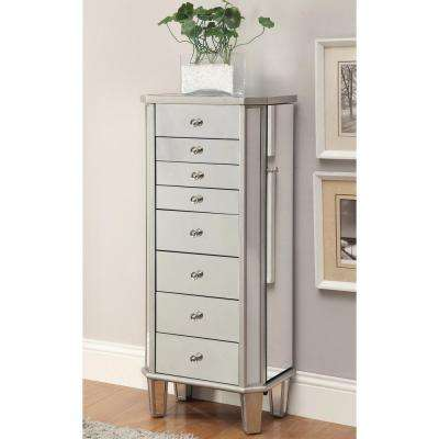 Desiree Antique Silver Jewelry Armoire