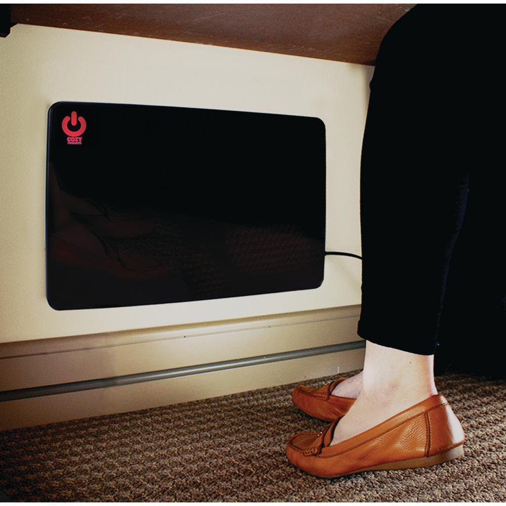 200-Watt Cozy Legs Flat Panel Personal Office Desk Space Heater Compact Desktop
