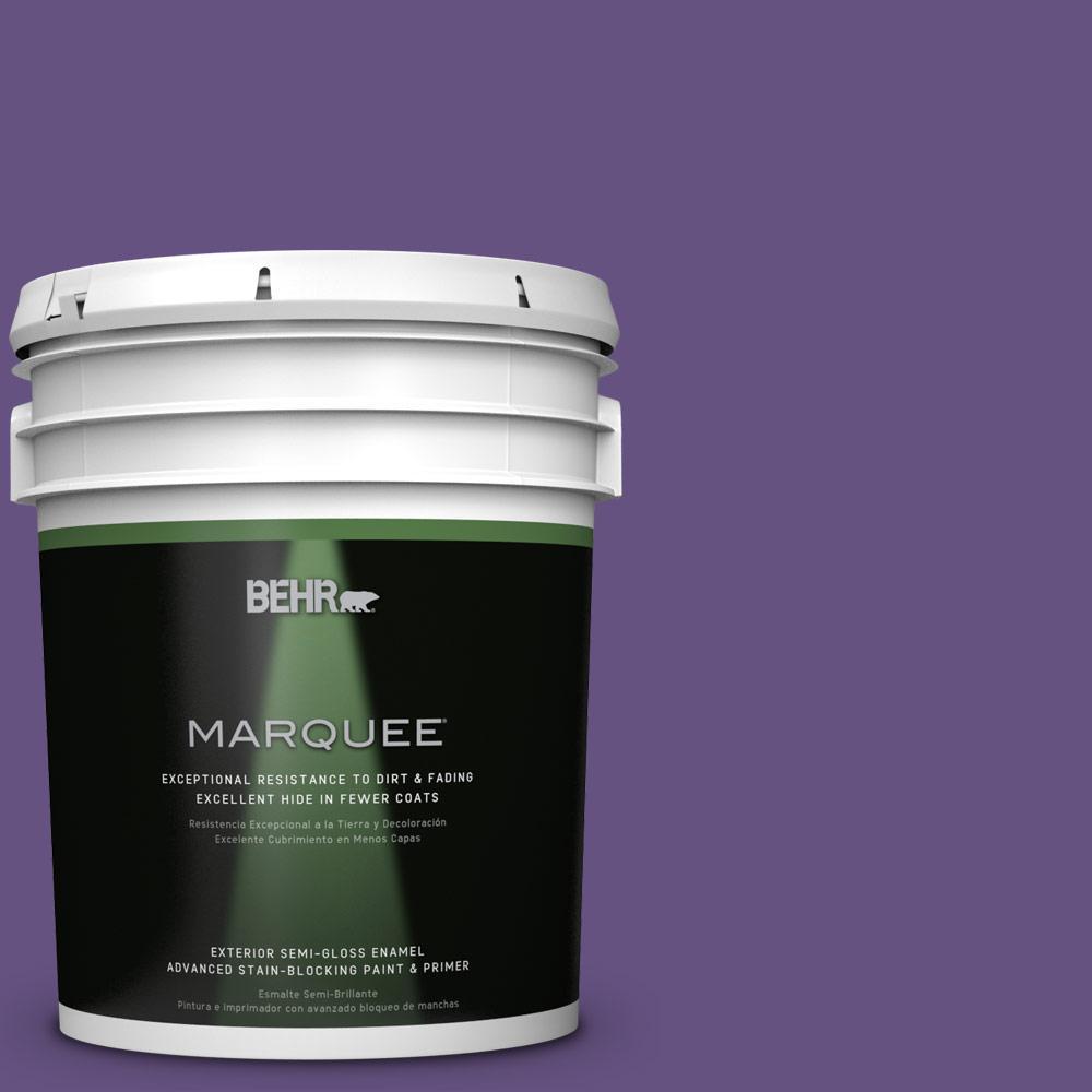 Home Decorators Collection 5-gal. #HDC-MD-25 Virtual Violet Semi-Gloss Enamel