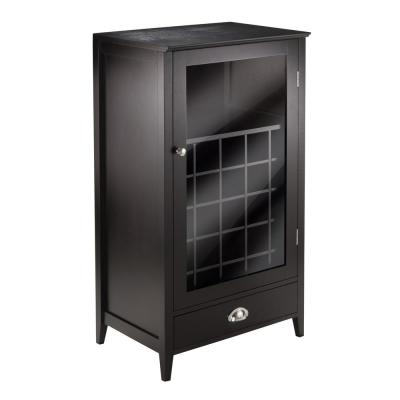 Bordeaux 25-Bottle Espresso Bar Cabinet