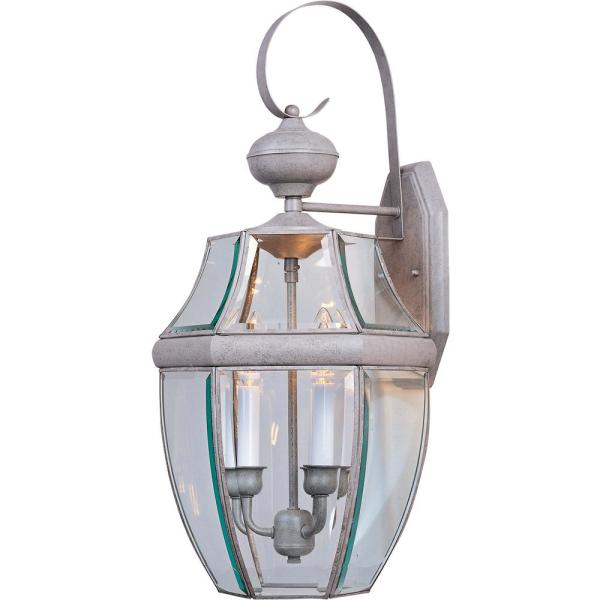 South Park 12 in. W 3-Light Burnished Outdoor Wall Lantern Sconce