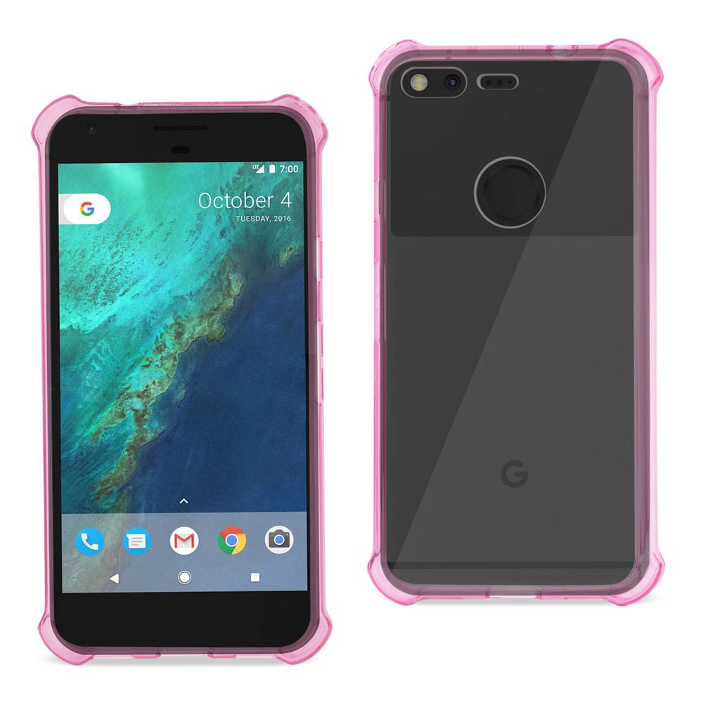 Google Pixel Air Cushion Case in Clear Hot Pink