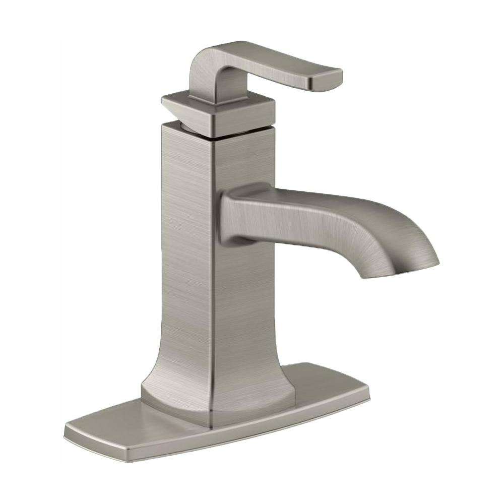 KOHLER Rubicon Single Hole Single-Handle Bathroom Faucet in Vibrant Brushed Nickel