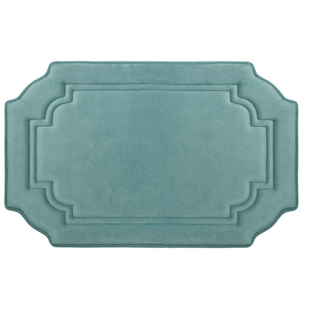 Calypso Marine Blue 20 in. x 32 in. Memory Foam Bath Mat