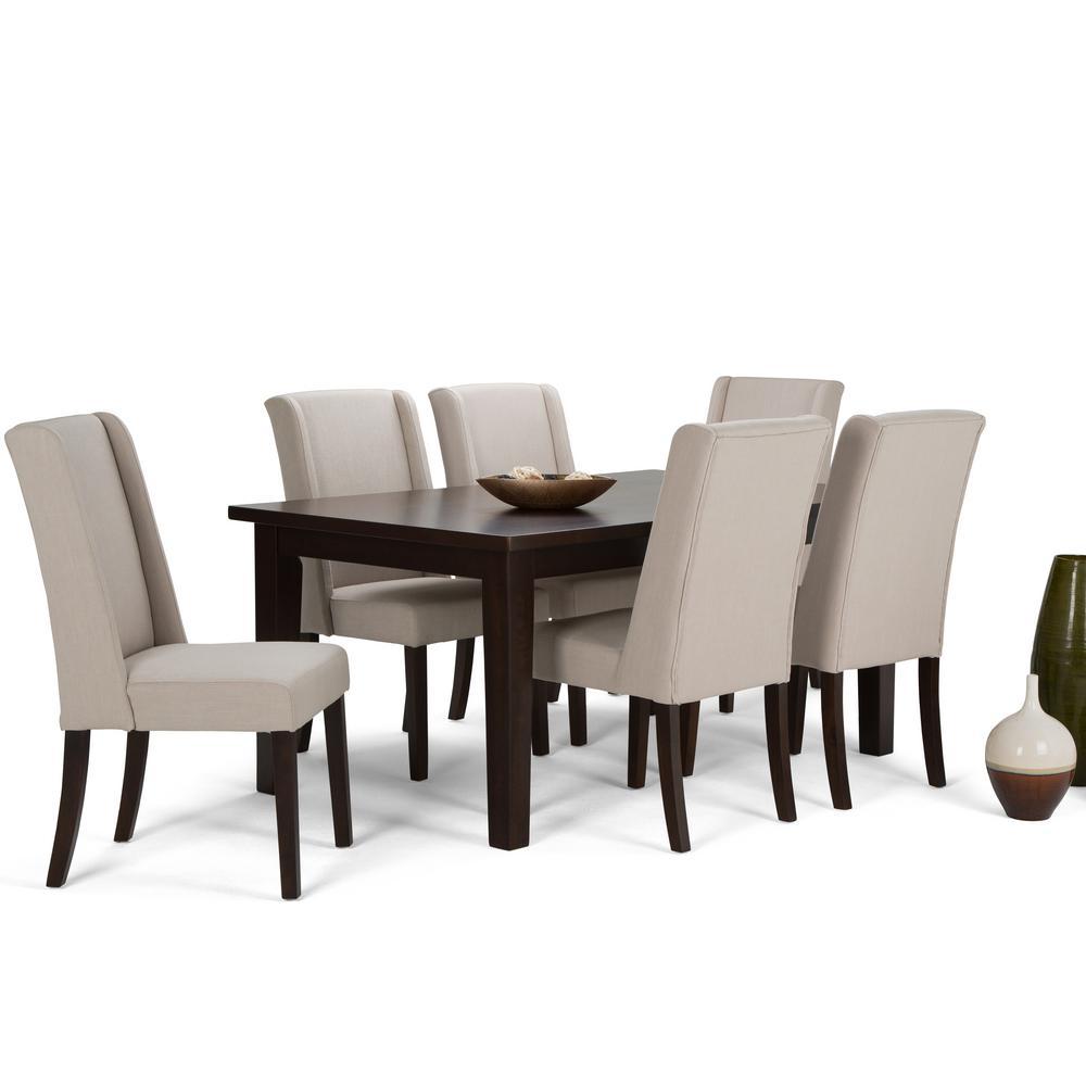 Simpli Home Sotheby 7 Piece Natural Dining Set