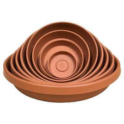11 in x 2 Terra Cotta Terra Plastic Plant Saucer Tray