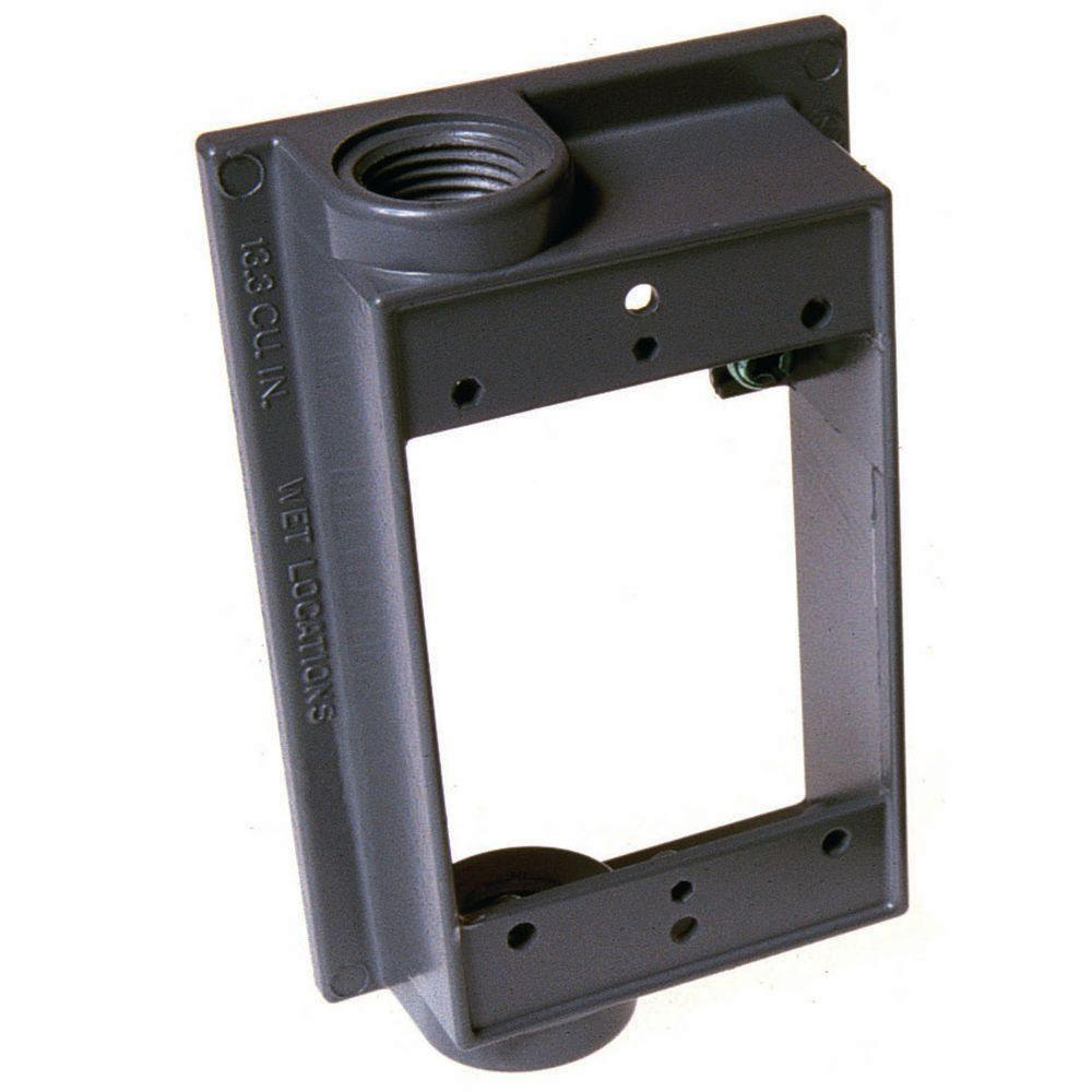 "Weatherproof 1-Gang FLANGED Metal Extension Ring 6 Six 1//2/"" Holes Outdoor Box"