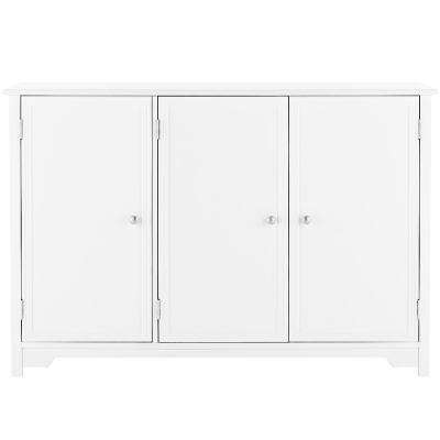 Oxford White 3-Door Storage Console