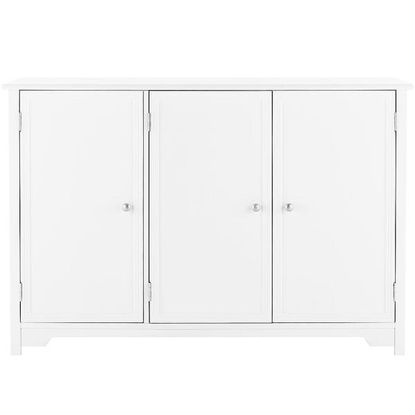 Home Decorators Collection Oxford White 3-Door Storage Console