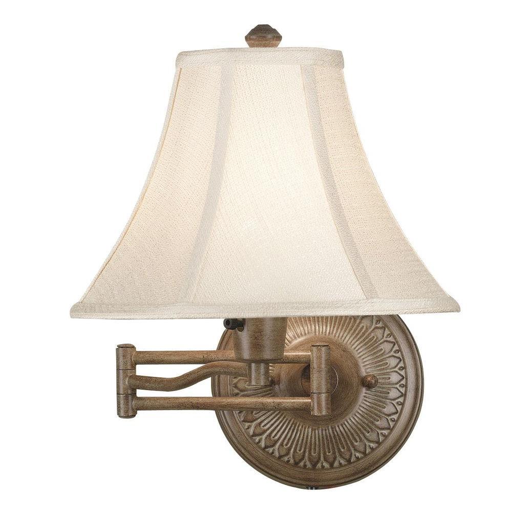Kenroy Home Amherst Nutmeg Wall Swing Arm Lamp
