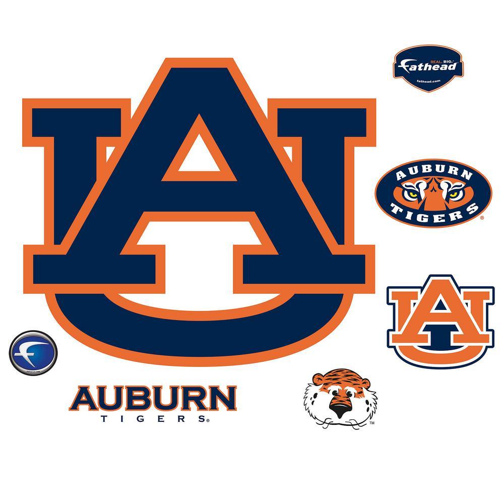 Fathead 34 in. H x 39 in. W Auburn Tigers Logo Wall Mural