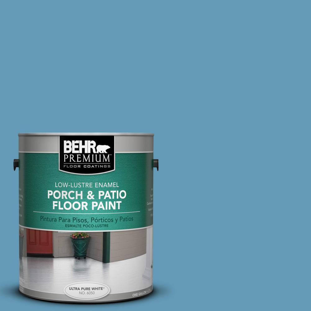 1 gal. #S490-4 Yacht Blue Low-Lustre Porch and Patio Floor Paint