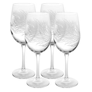 Rolf Glass Peacock 12 oz. Clear White Wine Glass (Set of 4) by Rolf Glass