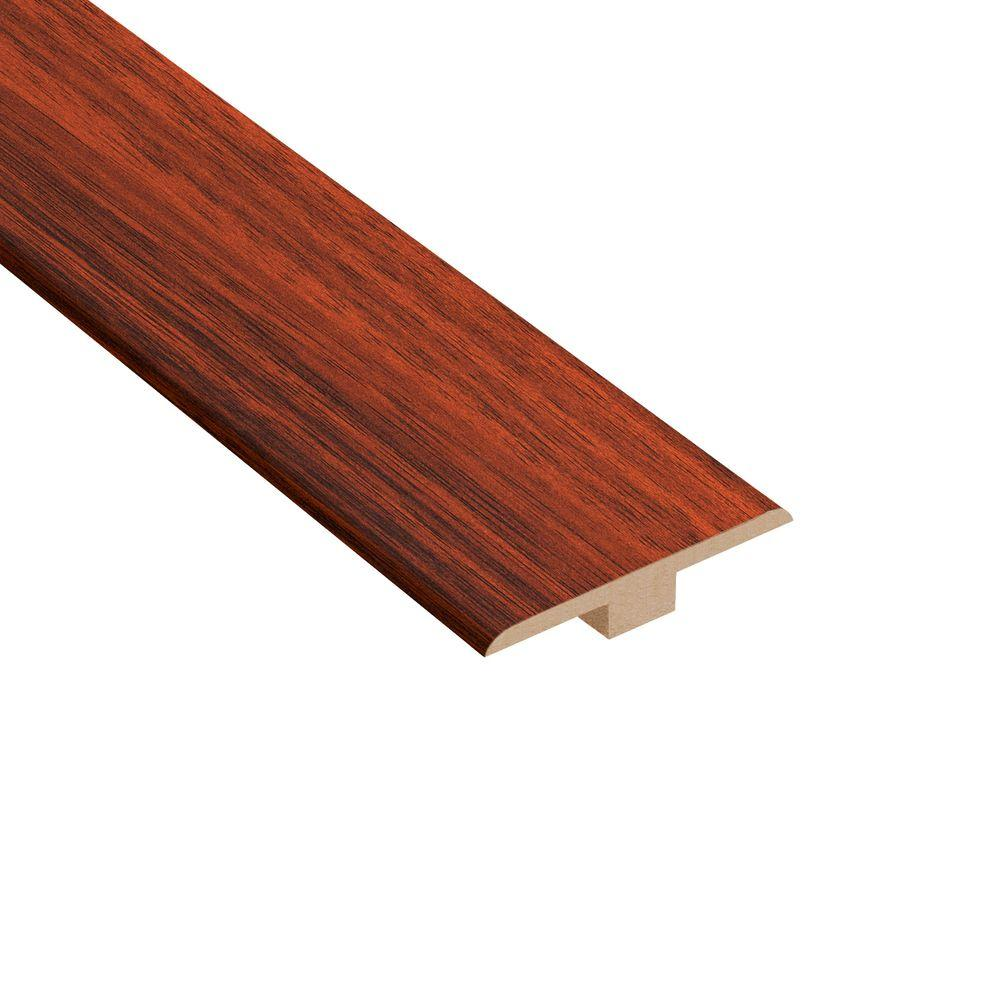Home Legend High Gloss Brazilian Cherry 1/4 in. Thick x 1-7/16 in. Wide x 94 in. Length Laminate T- Molding