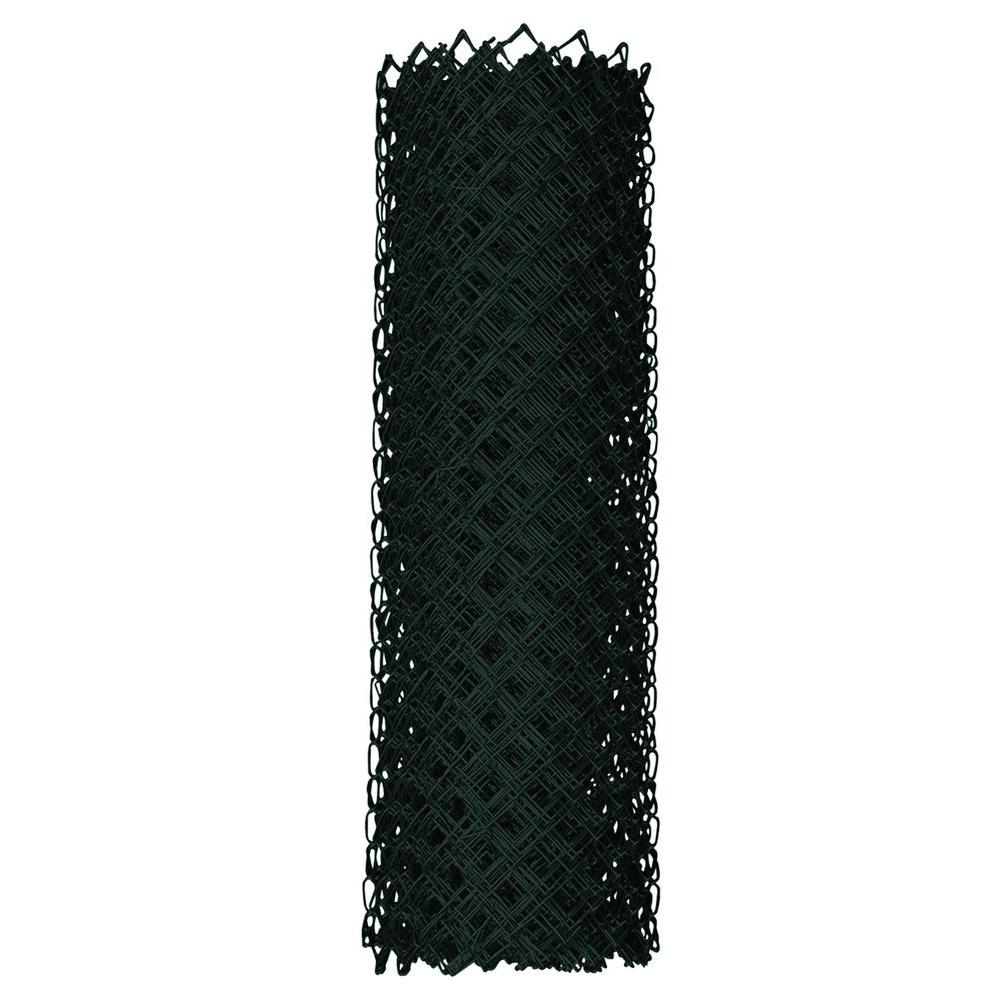 YARDGARD 4 ft. x 50 ft. 9-Gauge Black Chain Link Fabric