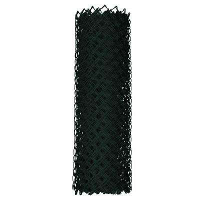 4 ft. x 50 ft. 9-Gauge Black Chain Link Fabric
