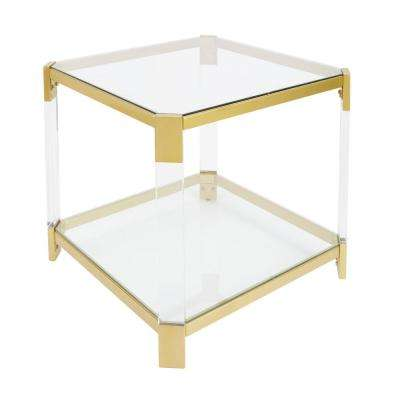 Huxley Clear and Gold End Table