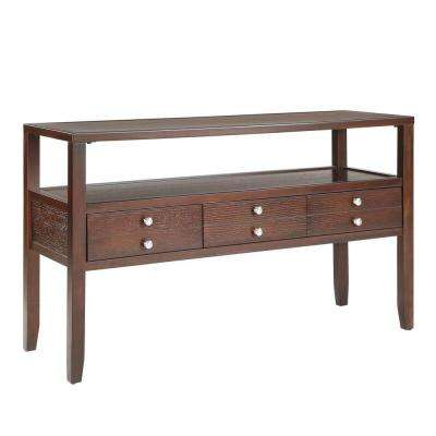 Brannan Cherry Storage Console Table