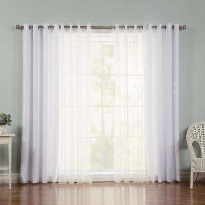 84 in. L x 52 in. W uMIXm Zig Zag Sheer Nordic Curtain Panels in White (4-Pack)