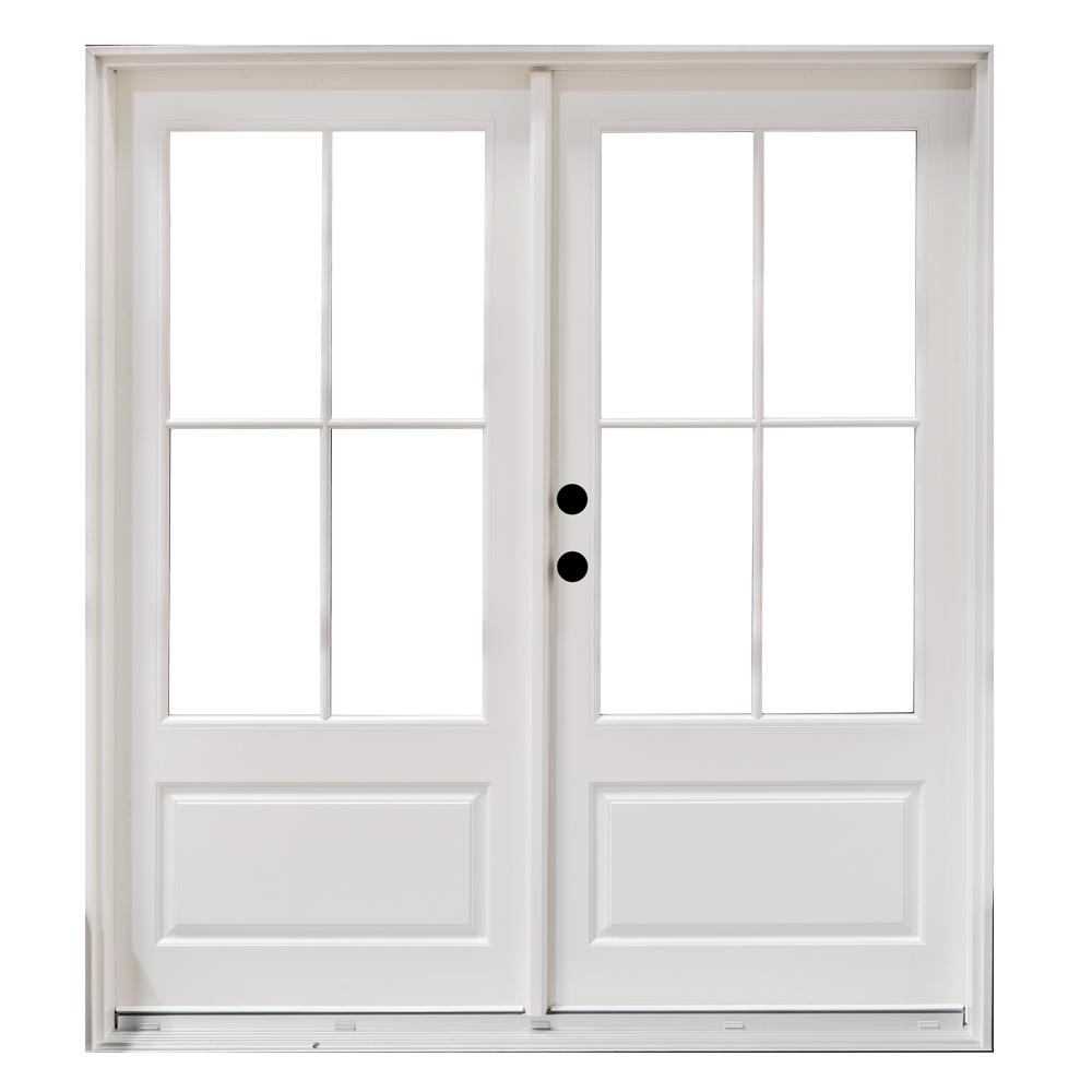 Exterior french doors wood home design for Home depot wood french doors