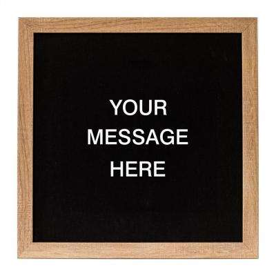 Letterlove w/150 White Magnetic Letters, RUSTIC BROWN FRAME, Magnetic Memo Board