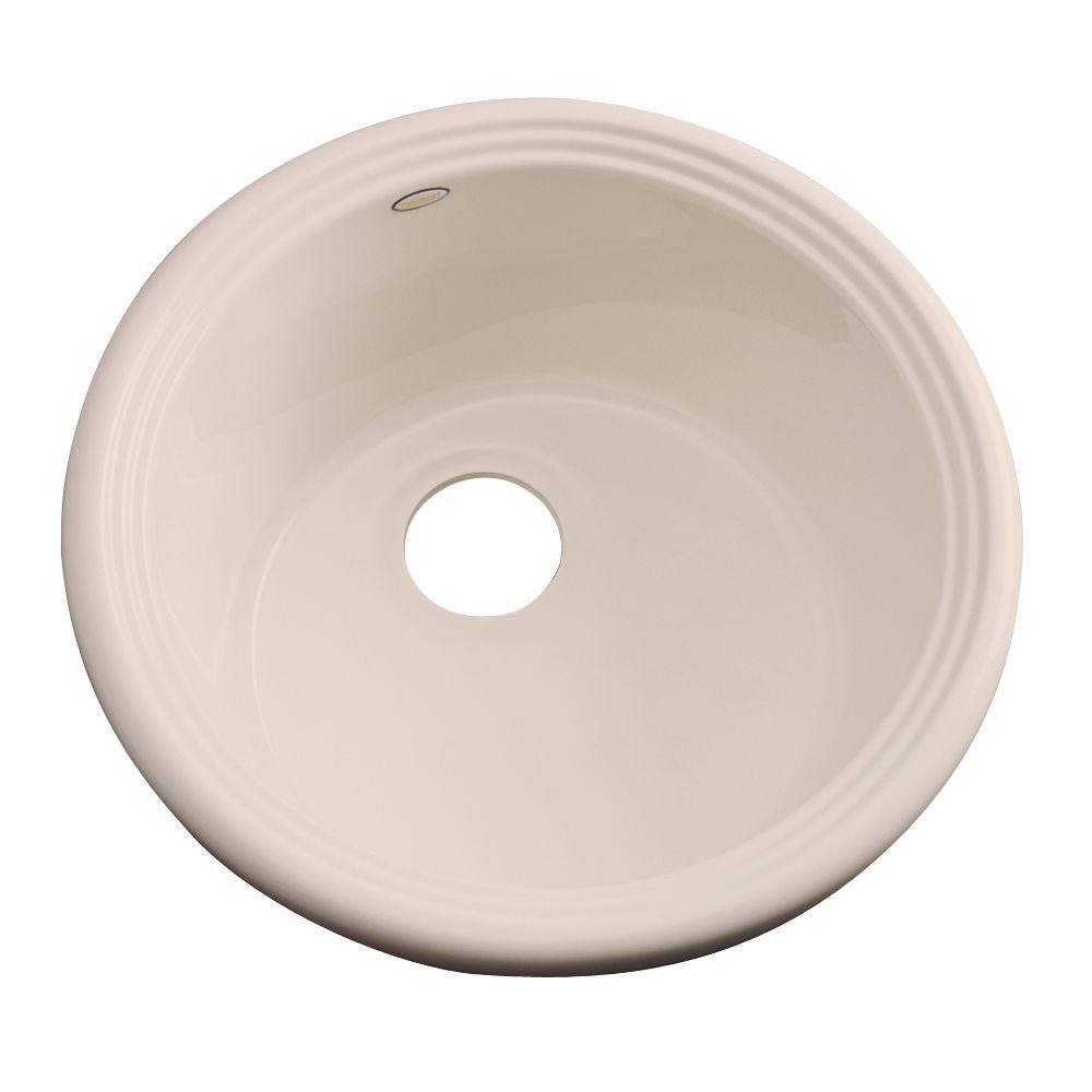 Thermocast Hampton Drop-In Acrylic 18 in. Single Basin Entertainment Sink in Candlelyght