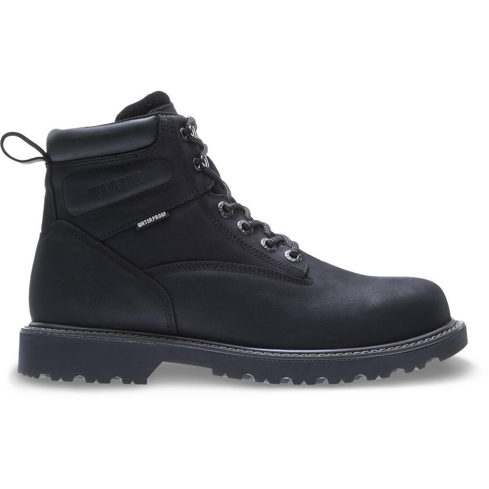 ea352b567d9 Wolverine Men's Floorhand 2 Mid 9M Black Full-Grain Leather ...
