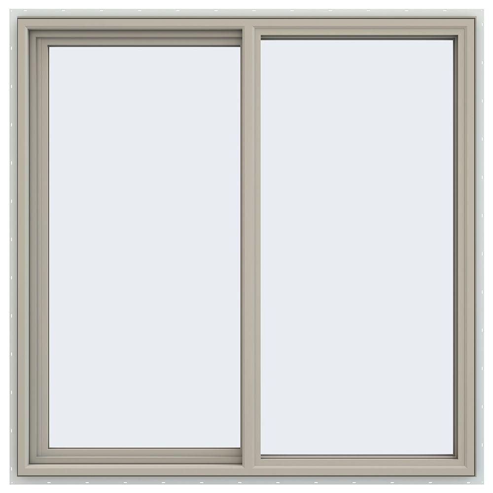 47.5 in. x 47.5 in. V-4500 Series Left-Hand Sliding Vinyl Windows