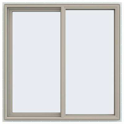 47.5 in. x 47.5 in. V-4500 Series Left-Hand Sliding Vinyl Windows - Tan