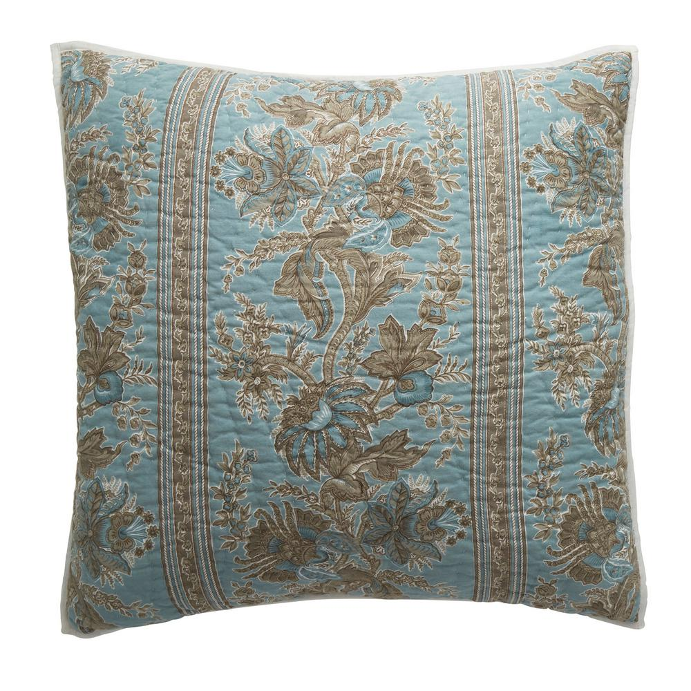 The Company Store Alexandra Multicolored Botanical Textured Cotton Euro Sham was $68.99 now $40.99 (41.0% off)