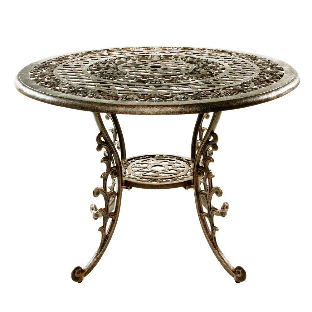 Oakland Living Mississippi Antique Bronze Patio Dining Table