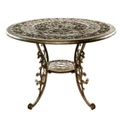 Mississippi Antique Bronze Patio Dining Table