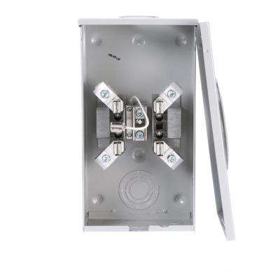 200 Amp 4-Jaw Single Phase 600-Volt Ring Type Overhead Feed Meter Socket