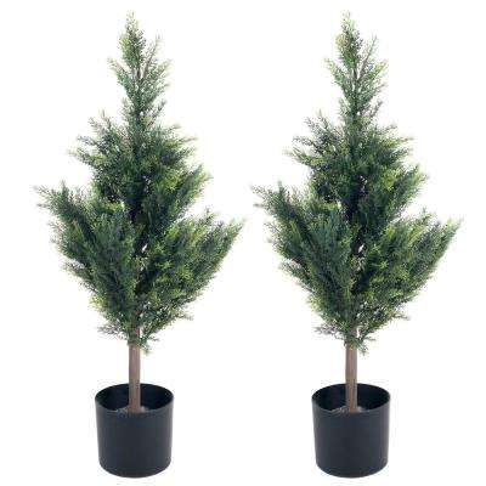 34 in. Cedar Artificial Tree (Set of 2)