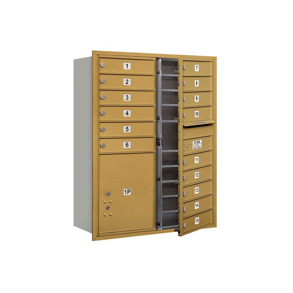 3700 Series 41 in. 11 Door High Unit Gold Front Loading