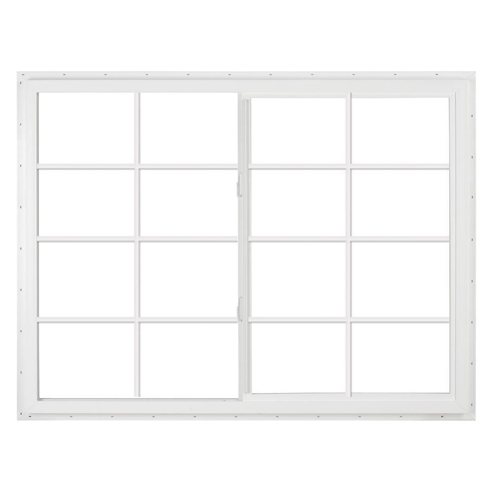 SIMONTON 72 in. x 48 in. DaylightMax Left-Hand Sliding Vinyl Window - White