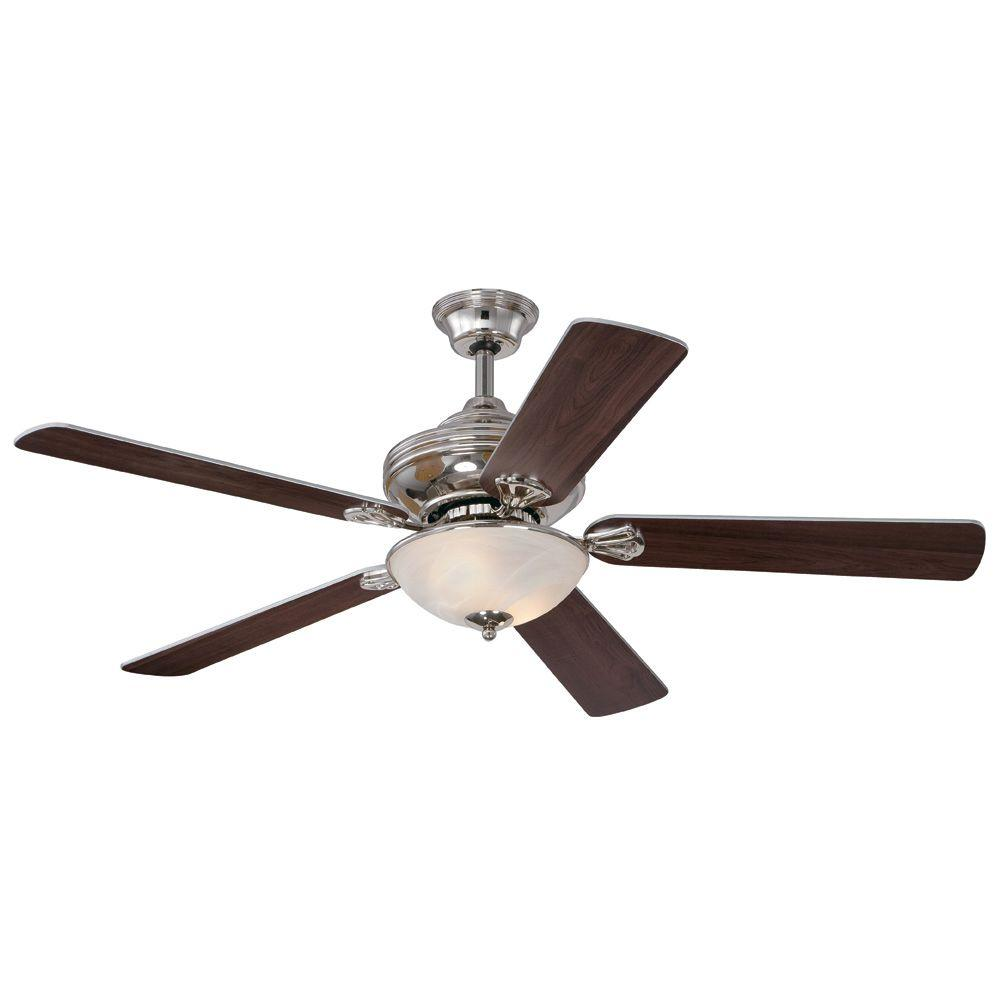 Westinghouse anderson 52 in polished nickel indoor ceiling fan 7200000 the home depot - Westinghouse and living ...
