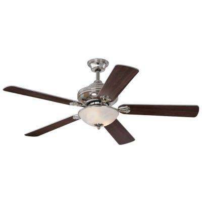 Anderson 52 in. Polished Nickel Indoor Ceiling Fan