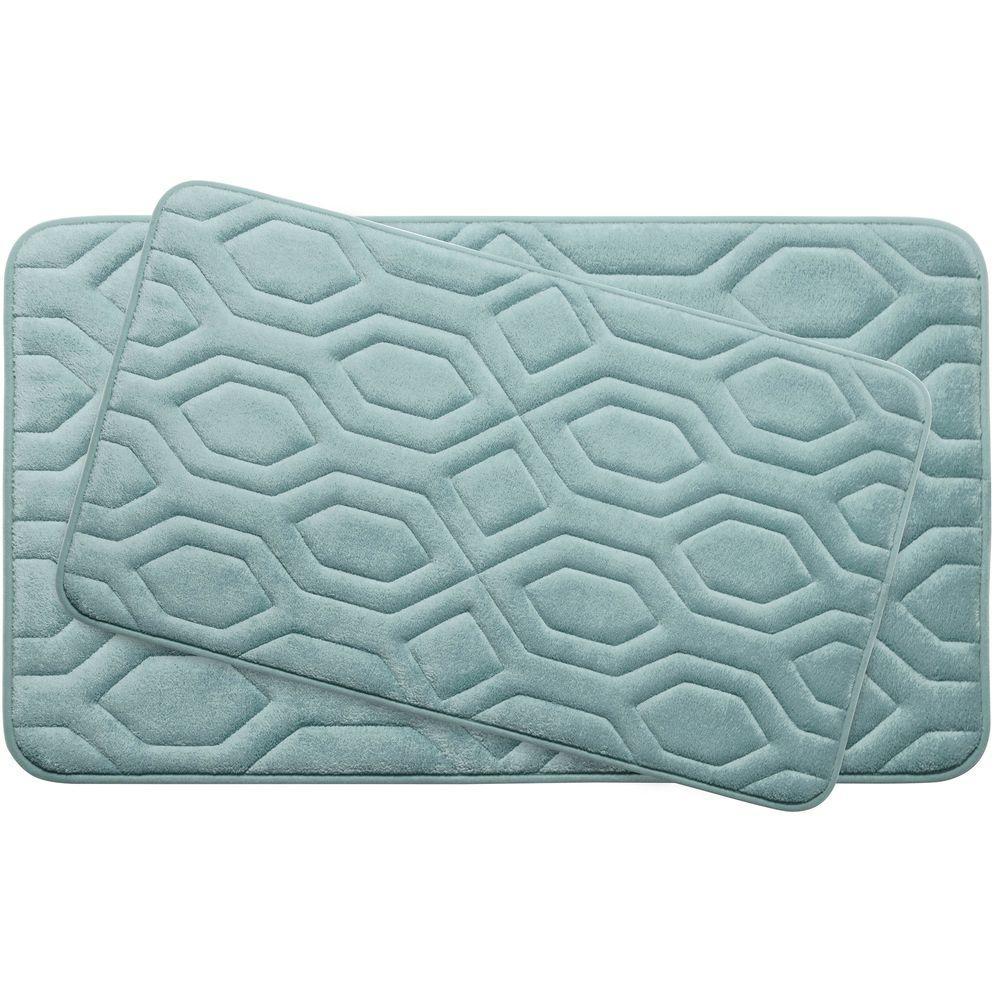 BounceComfort Turtle Shell Aqua Memory Foam 2-Piece Bath