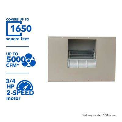 5000 CFM 120-Volt 2-Speed Down-Draft Roof 8 in. Media Evaporative Cooler for 1650 sq. ft. (with Motor)