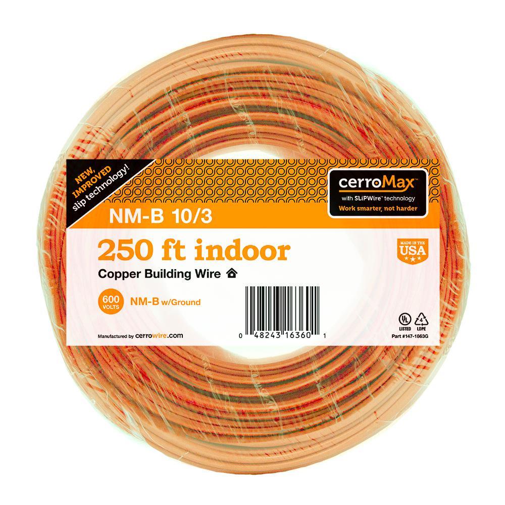 250 ft. 10/3 NM-B Wire, Orange